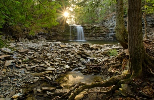 Christman Sanctuary - Bozenkill Falls