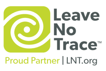 Leave-No-Trace-Proud-Partner logo, waterfalls home page