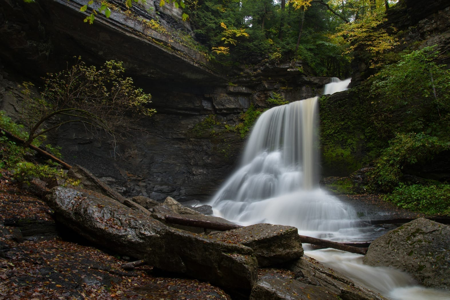 Cowsheds waterfall, Fillmore Glen