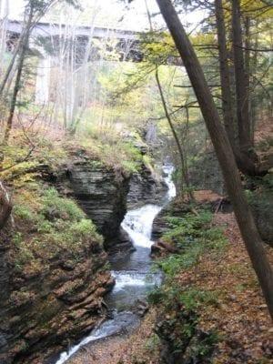 Deckertown Upper Falls, Schuyler County, New York 10-19-2010