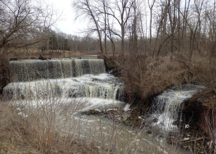Mill Pond Falls, Otto Mills, Niagara County, New York 4-12-2014