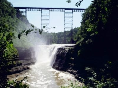 Genesee Upper Falls in Letchworth State Park, Wyoming County, New York 7-15-2006